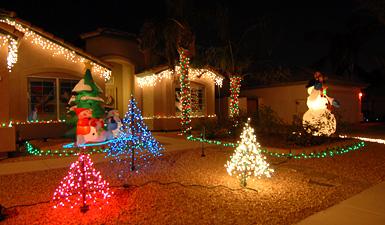 Evergreen Street Holiday Lights