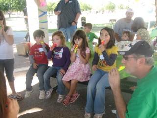 Kazoo Kids at the picnic